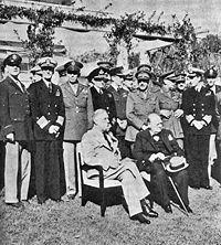 Conférence de Casablanca (1943), Président Roosevelt et Premier ministre Churchill.