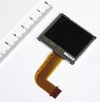 Un écran à cristaux liquides TFT couleur Casio de 1,8