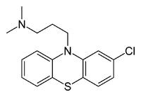 structure de la chlorpromazine