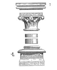 Une colonne du XIIIesiècle