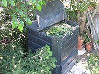 Poubelle à compost commerciale ouverte