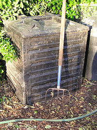 Poubelle à compost commerciale