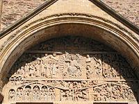 Le tympan de l'abbatiale Sainte Foy de Conques