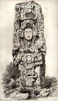 Copán, Stèle N par Catherwood