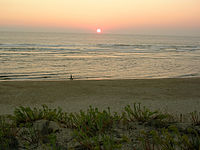 Coucher de soleil à Mimizan