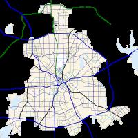 Carte routière de Dallas