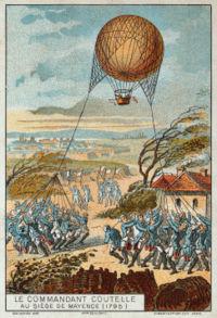 Ballon à gaz de Coutelle, Blocus de Mayence, 1795.