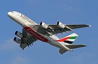 A380 aux couleurs d'Emirates