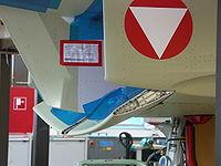 Entrée d'air du chasseur Eurofighter Typhoon à lèvre inférieure mobile