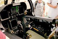 Cockpit d'un FA 18 C Suisse.
