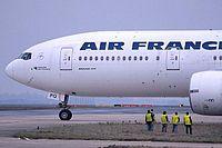 Le F-GSPQ est le 17e 777-200 d'Air France.