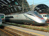 Une rame ETR 500 à Milano Centrale