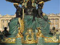 Fontaine sur la place de la Concorde