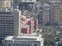 Le Musée égyptien vu depuis la tour du Caire