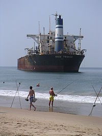 Le River Princess échoué à Goa en 2000