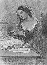 Héloïse dans une gravure du XIXe siècle.