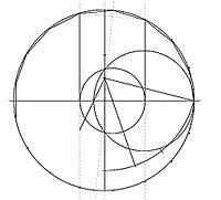 Figure à la règle et au compas: Heptadécagone, un polygone régulier de 17 cotés