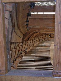 Reconstruction de la frégate Hermione à Rochefort, en bois massif.
