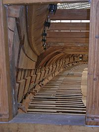 Reconstruction de la fr�gate Hermione � Rochefort, en bois massif.