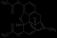 Structure de la diacétylmorphine