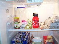 L'intérieur d'un réfrigérateur