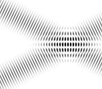 Interférences d'ondes planes lors de leur croisement.