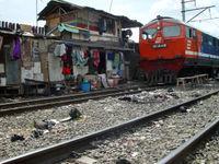 Un train indonésien