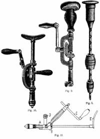 Trois chignoles à manivelle et une manuelle