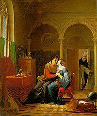 Les Amours d'Héloïse et d'Abélard par Jean Vignaud (1819).