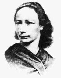 Louise Michel, gravure de Néraudan