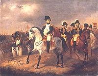 Napoléon avec ses généraux