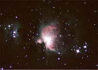 Photographie de la grande nébuleuse d'Orion