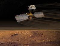 Vue d'artiste�: la s�quence de freinage atmosph�rique de la sonde MRO