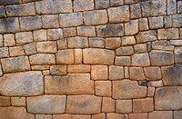 Un mur soign� de Machu Picchu