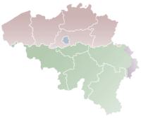 Localisation sur la carte de Belgique