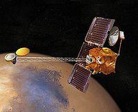 Vue d'artiste de l'orbiteur 2001 Mars Odyssey