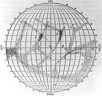 Carte de Giovanni Schiaparelli