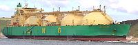 Le méthanier LNG Rivers à Brest.
