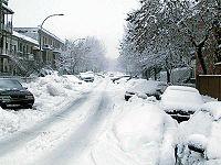 Rue de l'Esplanade sous la neige