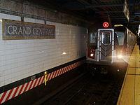 Arrivée d'une rame de la ligne 6 à Grand Central.