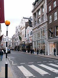 Bond Street, une des principales rues commerçantes de Mayfair.