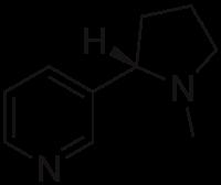 Structure de la nicotine