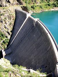 La barrage de la Gittaz