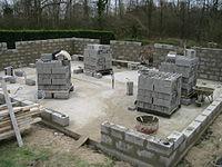 construction d'une habitation en parpaings