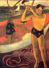 L'homme à la hache Tableau de Paul Gauguin (1891).