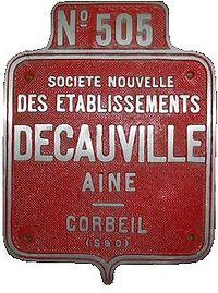 Plaque de locomotive Decauville
