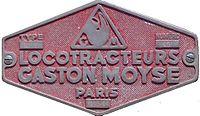 Plaque de locotracteur Moyse