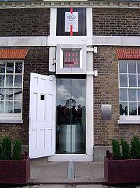 Mat�rialisation du m�ridien d'origine � l'Observatoire de Greenwich