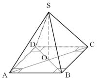 Pyramide géométrique vue en perspective
