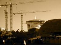 Le QM 2 en construction à Saint-Nazaire, Décembre 2003
